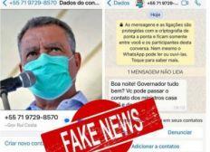 Criminosos tentam se passar pelo governador Rui Costa e aplicar golpe