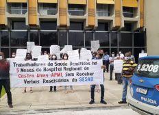 Ex-funcionários de hospital baiano cobram pagamento de verbas rescisórias em Salvador