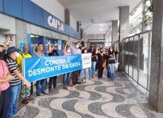 Após protestos, funcionários da Caixa suspendem paralisação e retornam ao trabalho