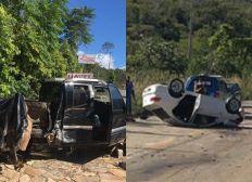 Colisão entre carro e caminhonete deixa motorista ferido em Rio de Contas