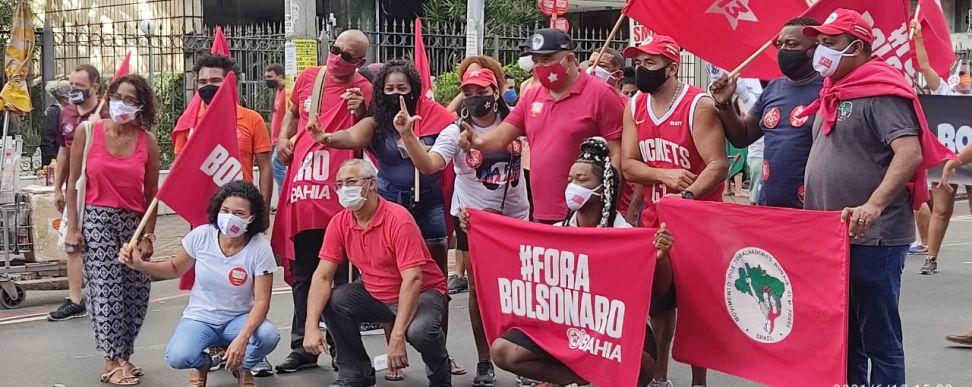 Manifestantes lotam Campo Grande em manifestação contra Bolsonaro