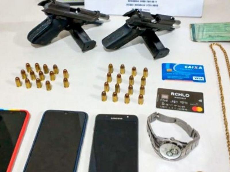 Armas são apreendidas com trio no Subúrbio Ferroviário