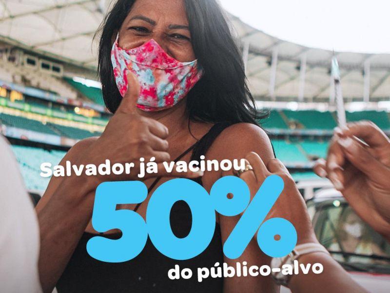 'Salvador já vacinou mais de 50% do público-alvo', afirma Bruno Reis