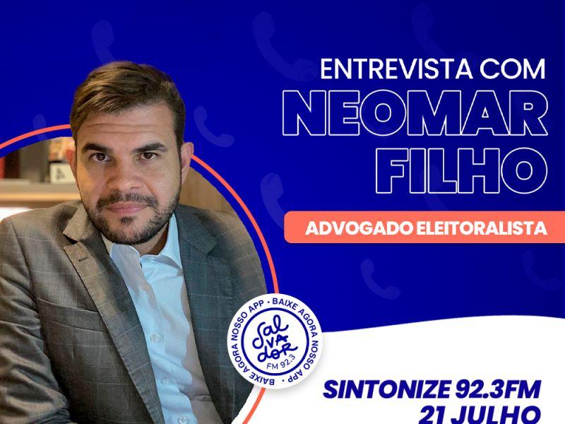 Ligação Direta recebe o advogado eleitoralista, Neomar Filho nesta quarta-feira (21)