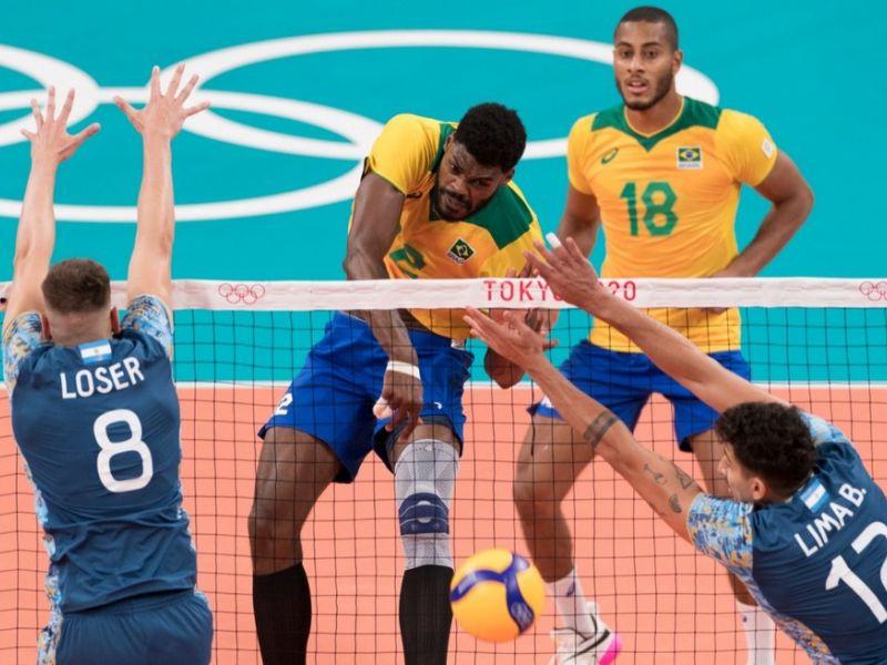 Olimpíadas: Brasil vira o jogo e vence Argentina no vôlei masculino
