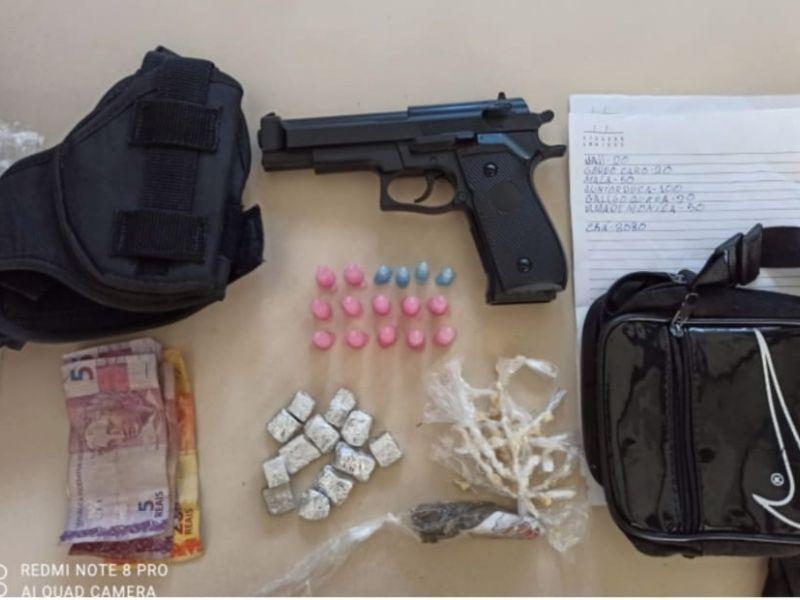 52ª CIPM apreende adolescente com drogas e arma de brinquedo