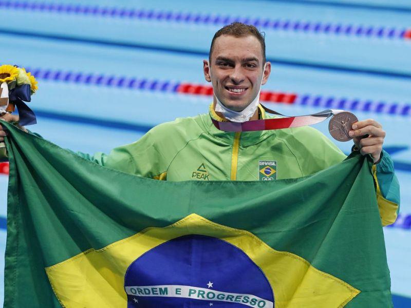 Olimpíadas: Fernando Scheffer fatura bronze na natação