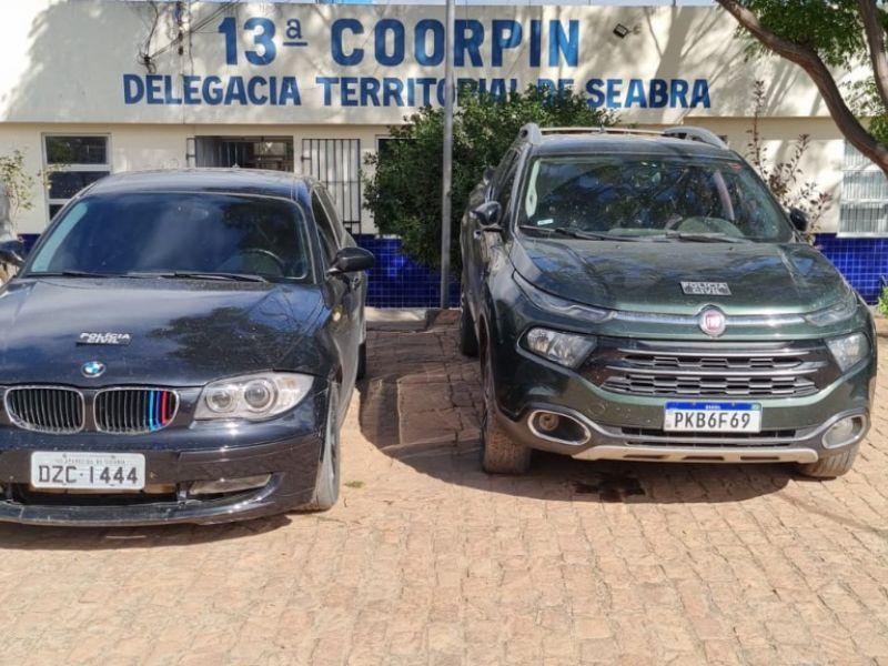 DT de Seabra recupera veículos roubados e prende receptador