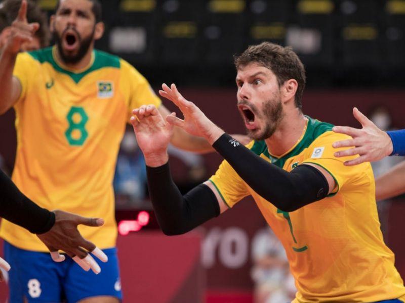 Olimpíadas 2020: Brasil vence de virada contra os Estados Unidos no vôlei masculino