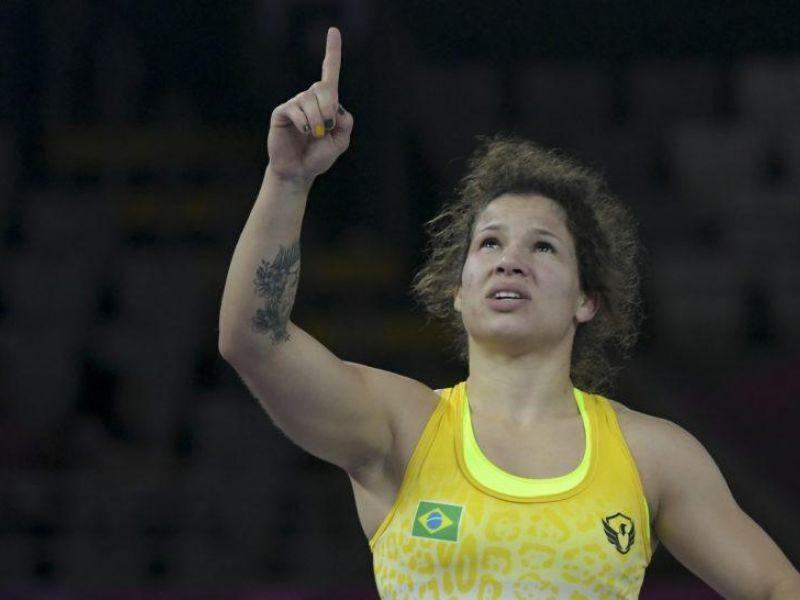 Olimpíada: Laís Nunes perde no torneio feminino de wrestling