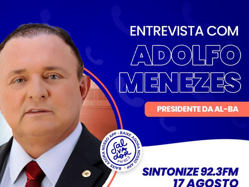 Ligação Direta recebe Adolfo Menezes, presidente da Assembleia Legislativa da Bahia nesta terça-feira (17)
