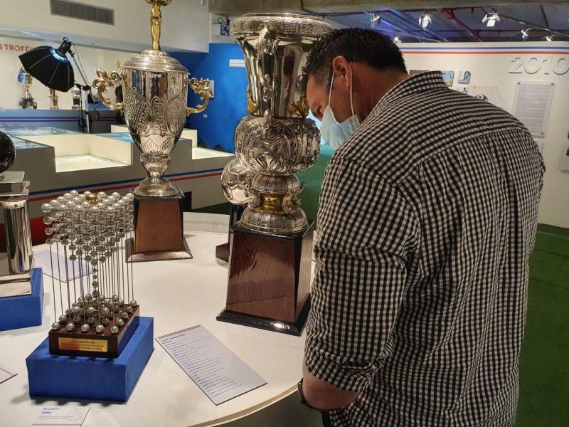 Diego Dabove conhece Museu do Bahia