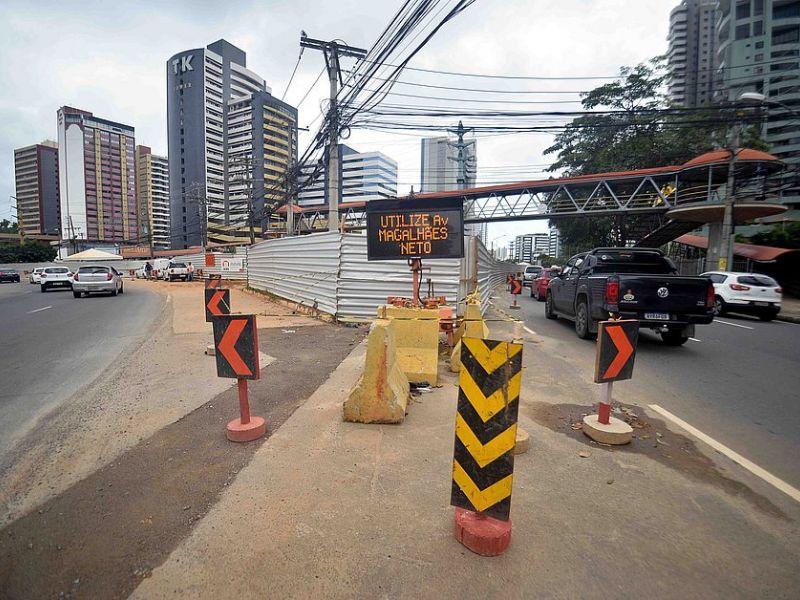 Avenida Tancredo Neves terá desvio no trânsito a partir deste sábado (18)