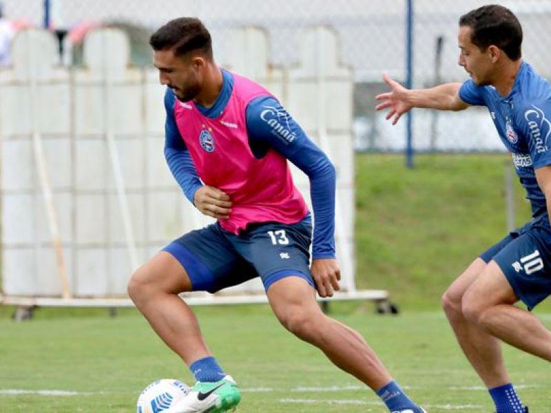 Bahia foca em treinamento de bola parada e encerra preparação contra o Bragantino