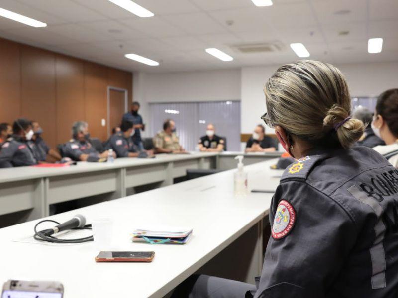 CBMBA realiza reunião estratégica sobre novas metas para o combate aos incêndios florestais