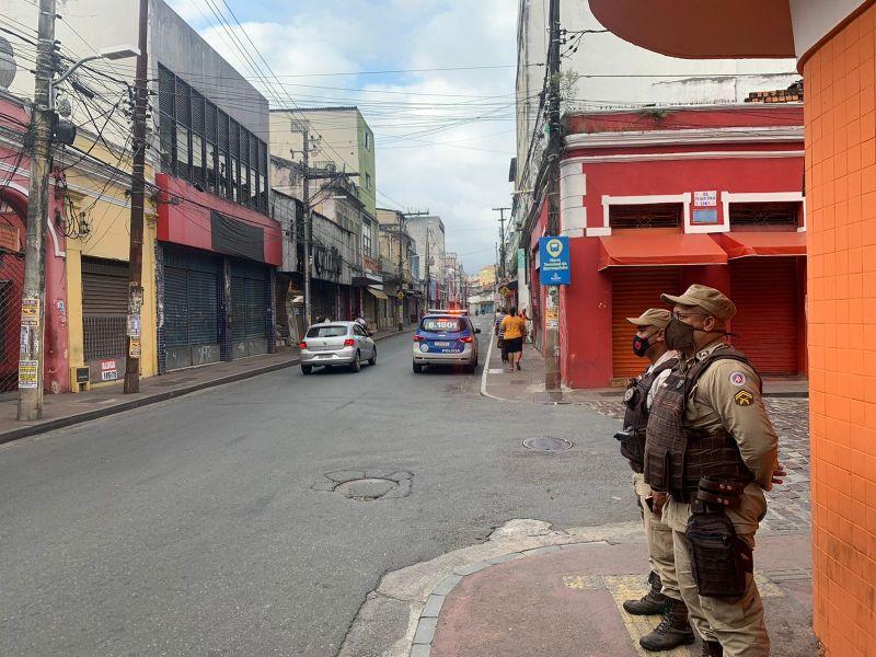 Policiamento na Barroquinha é intensificado nesta terça (21)