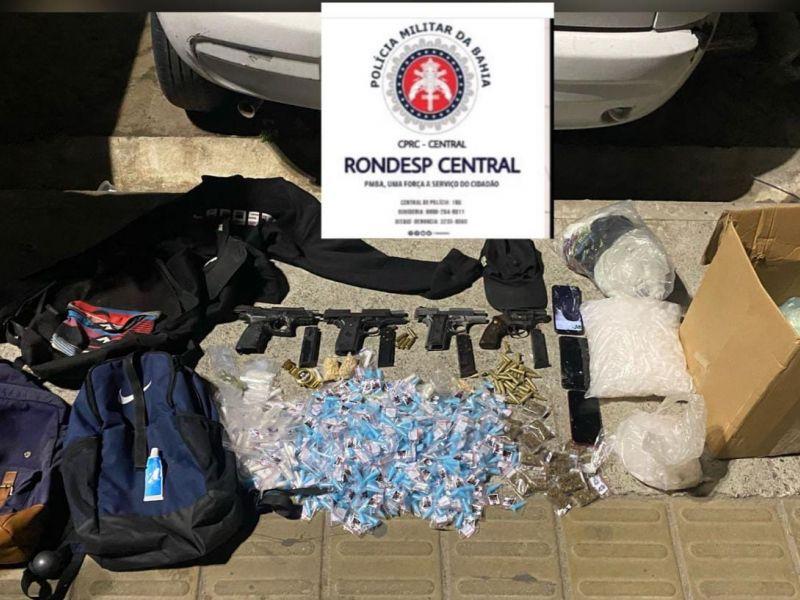PM prende sete traficantes e apreende quatro armas de fogo