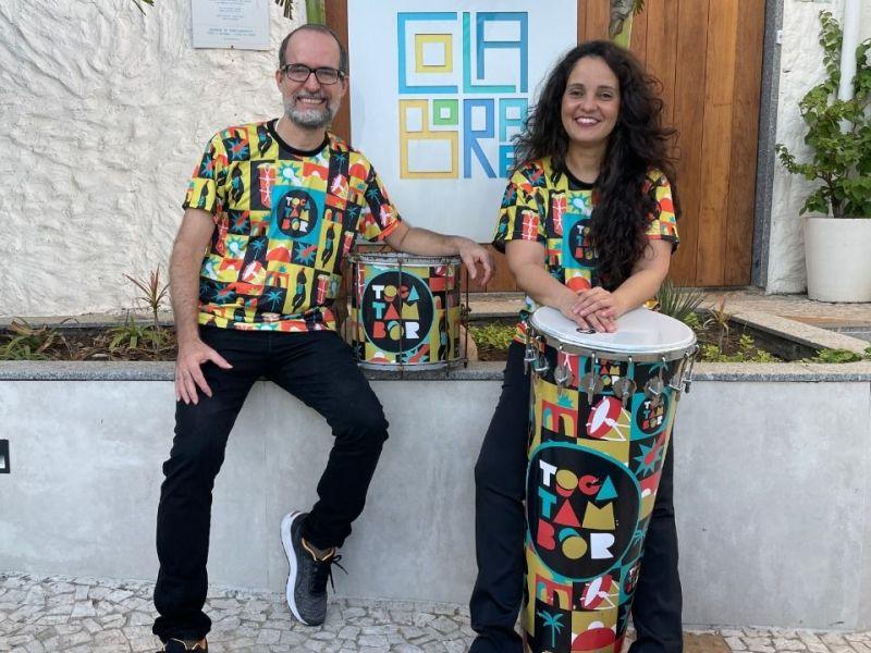 Colaboraê recebe a primeira Vivência Percussiva Tocatambor
