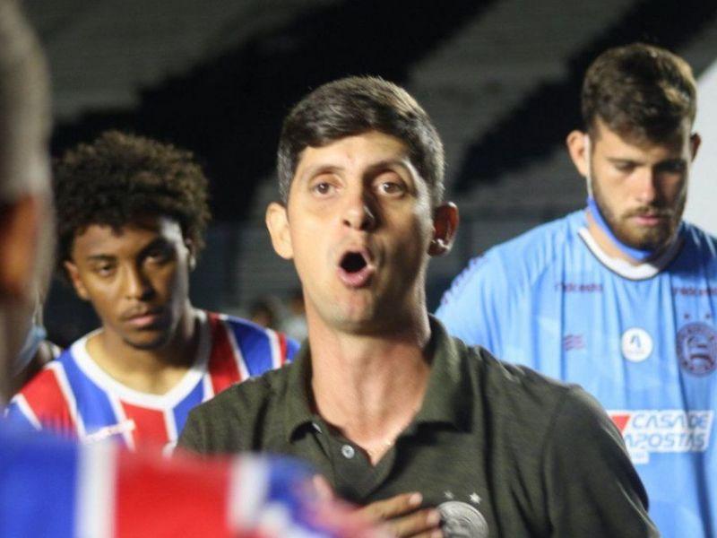 'Era uma pressão gigantesca': Guadagnucci celebra tri no Baianão Sub-20