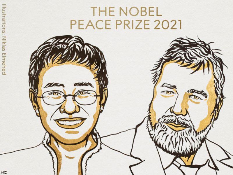 Jornalistas Maria Ressa e Dmitry Muratov ganham Nobel da Paz 2021