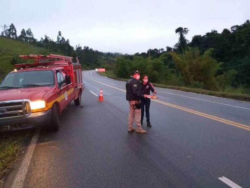 Policial morre em acidente na BR-116