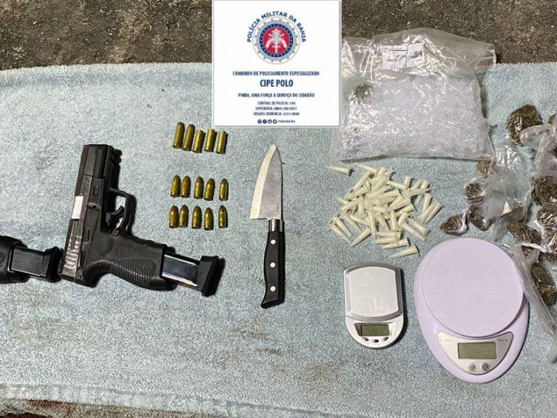 Três homens são presos portando armas de fogo em Dias D'Ávila