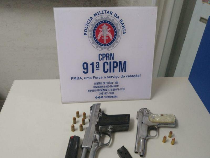 91ª CIPM apreende três armas em menos de seis horas